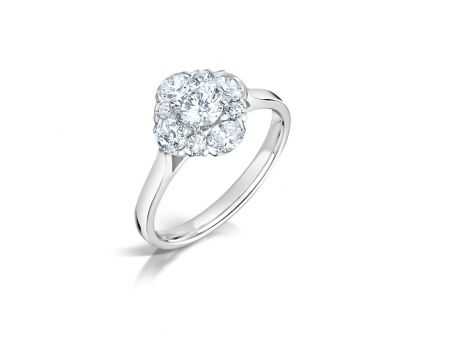 Unusual Diamond Cluster Engagement Ring