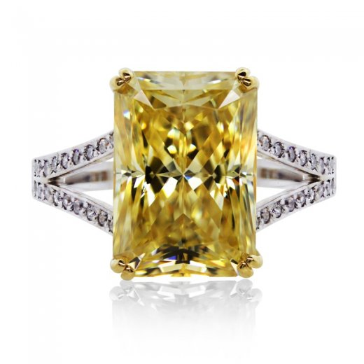 Carat* Light Fancy Yellow Radiant Cocktail Ring