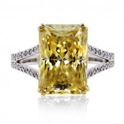 Light Fancy Yellow Radiant Cocktail Ring