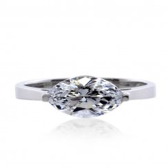 Magnificent Marquise in White Gold