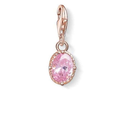 "Charm Pendant ""Hot Pink Stone"""