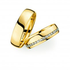 Matching Pair 18ct Yellow Gold Wedding Ring