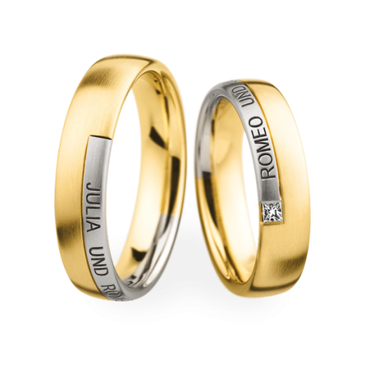 Christian Bauer Matching Pair Engraved Wedding Rings