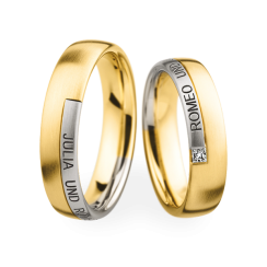 Matching Pair Engraved Wedding Rings