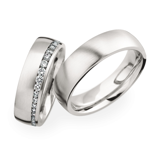 Matching Pair Graduated Diamond Wedding Rings Christian Bauer