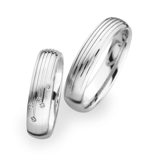 Christian Bauer Matching Pair Line Design Wedding Rings