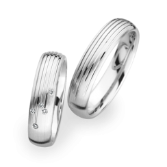 Matching Pair Line Design Wedding Rings