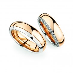 Matching Pair Platinum & Rose Gold Wedding Ring