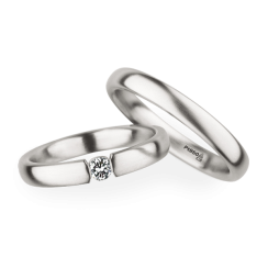 Matching Pair Simple Brushed Wedding Rings