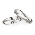 Christian Bauer Matching Pair Simple Brushed Wedding Rings