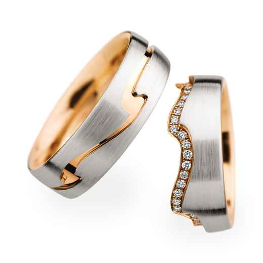 Christian Bauer Matching Pair Wave Weddding Rings