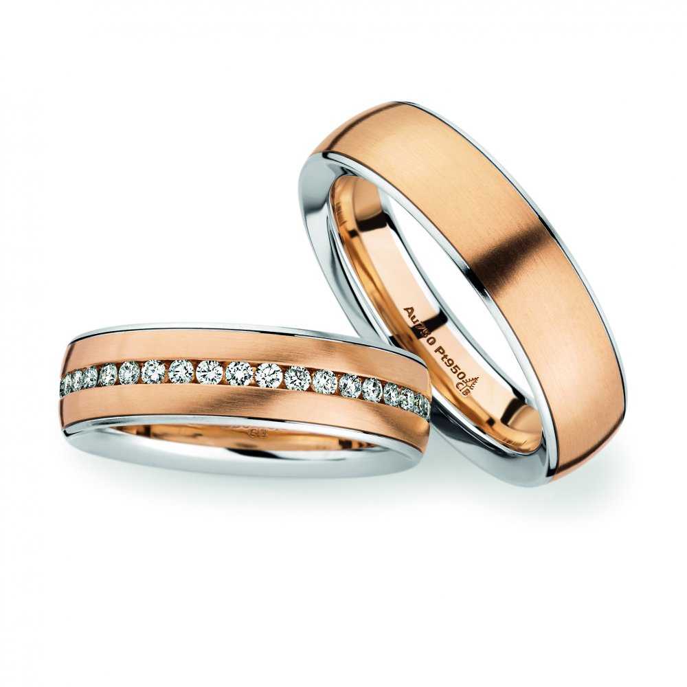 18ct gold platinum wedding rings christian bauer