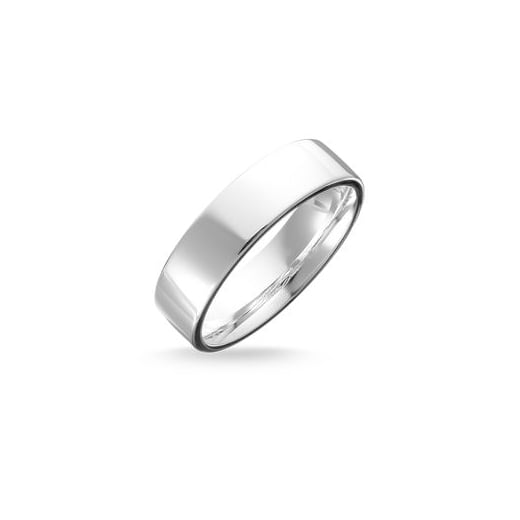 Thomas Sabo Classic Mens Plain Silver Ring - Size 62
