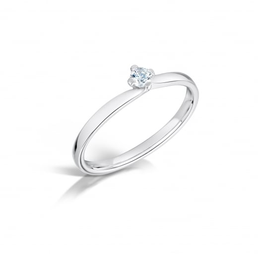 Clearwater Diamonds 0.20ct Dainty Twist Palladium Solitaire