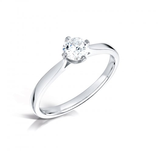 Clearwater Diamonds 0.30ct Round Brilliant Cut Diamond Solitaire Engagement Ring In Platinum