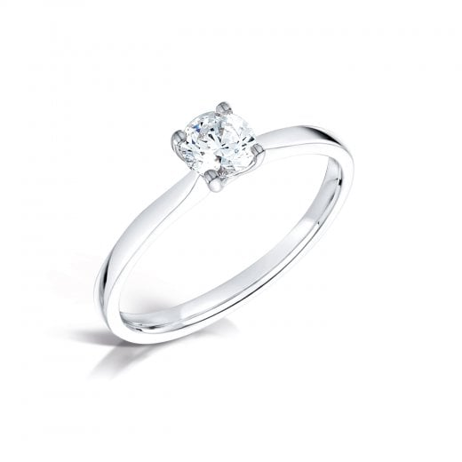 Clearwater Diamonds 0.50ct Round Brilliant Cut Diamond Solitaire Engagement Ring In Platinum