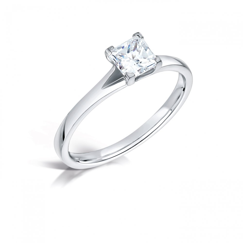0 51ct princess cut solitaire engagement ring in