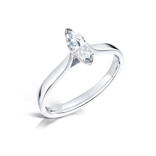 Clearwater Diamonds 0.70ct Marquise Platinum Solitaire