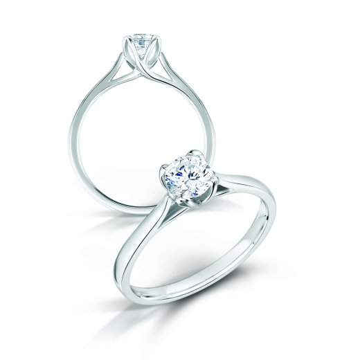 Clearwater Diamonds 0.70ct Round Brilliant Cut Diamond Solitaire Engagement Ring In Platinum