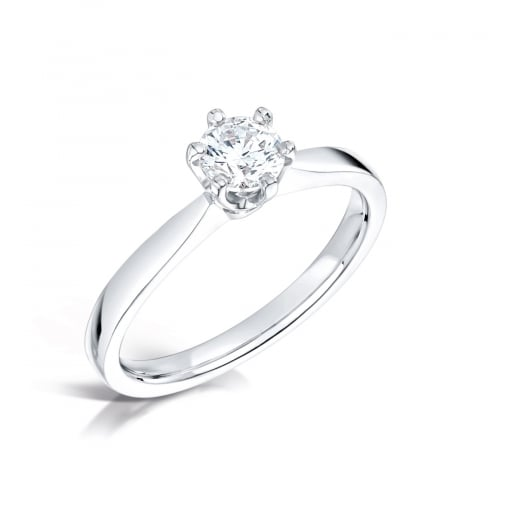 Clearwater Diamonds 0.71ct Traditional Six Claw Round Brilliant Solitaire