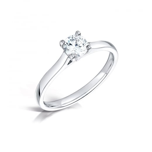 Clearwater Diamonds 0.73ct Round Classic Platinum Solitaire