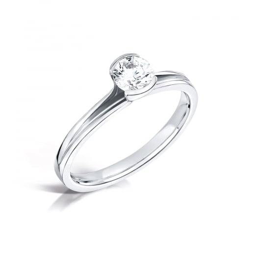 Clearwater Diamonds 0.90ct Round Brilliant Solitaire with Split Setting