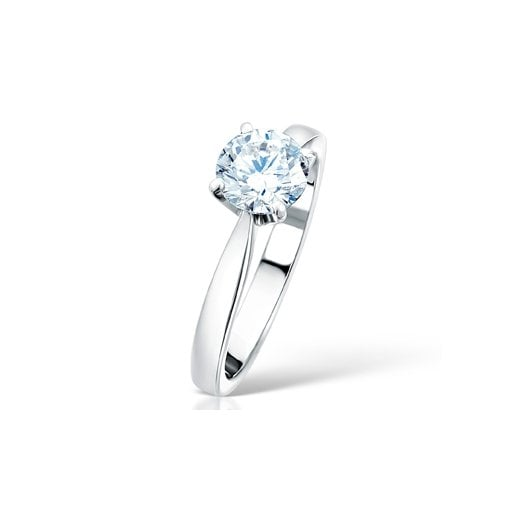Clearwater Diamonds 1.00ct Round Brilliant Cut Diamond Solitaire Engagement Ring In Platinum