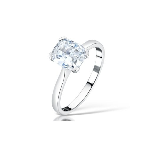 Clearwater Diamonds 1.50ct Cushion Cut Diamond Solitaire Engagement Ring In Platinum