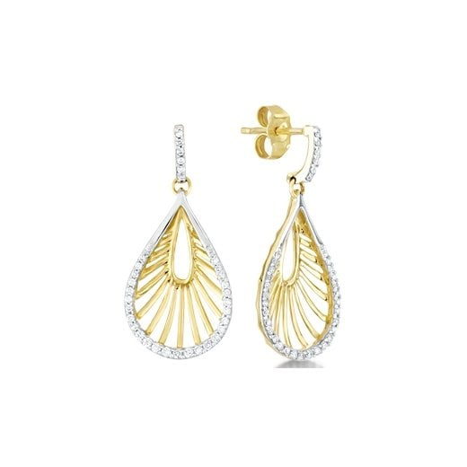 Clearwater Diamonds 18ct Yellow Gold & Diamond Dropper Earrings