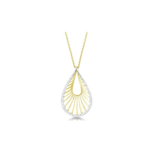 Clearwater Diamonds 18ct Yellow Gold & Diamond Pendant With Chain