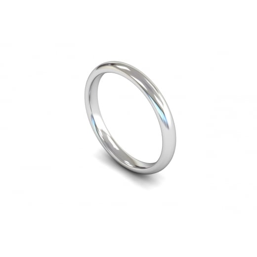 2.5mm Medium Weight Flat Edge Wedding Ring