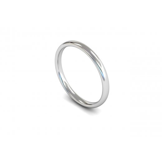 Clearwater Diamonds 2mm Light Weight Slight Court Wedding Ring