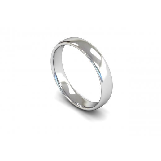 Clearwater Diamonds 4mm Light Weight Slight Court Wedding Ring