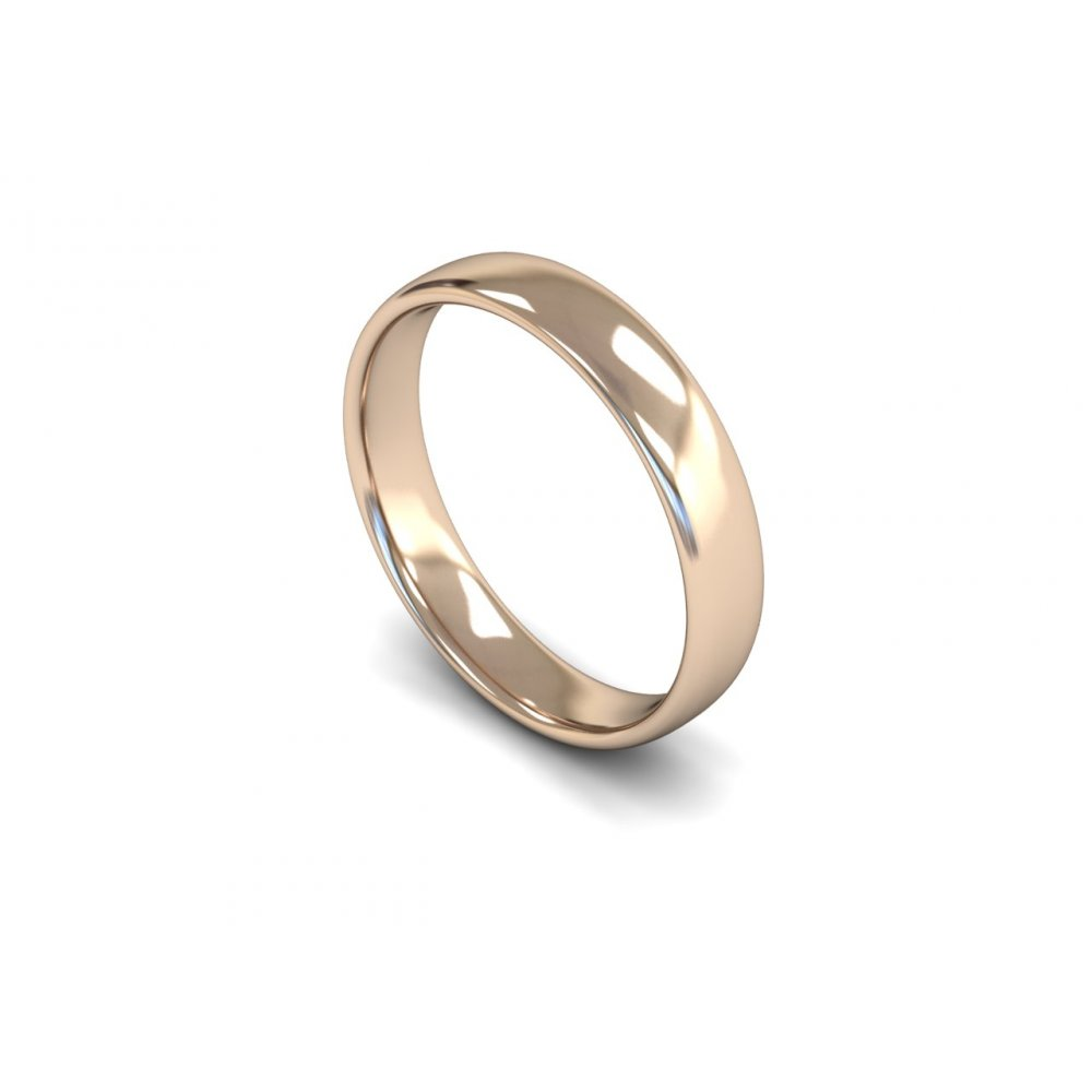 4mm light weight slight court wedding ring clearwater