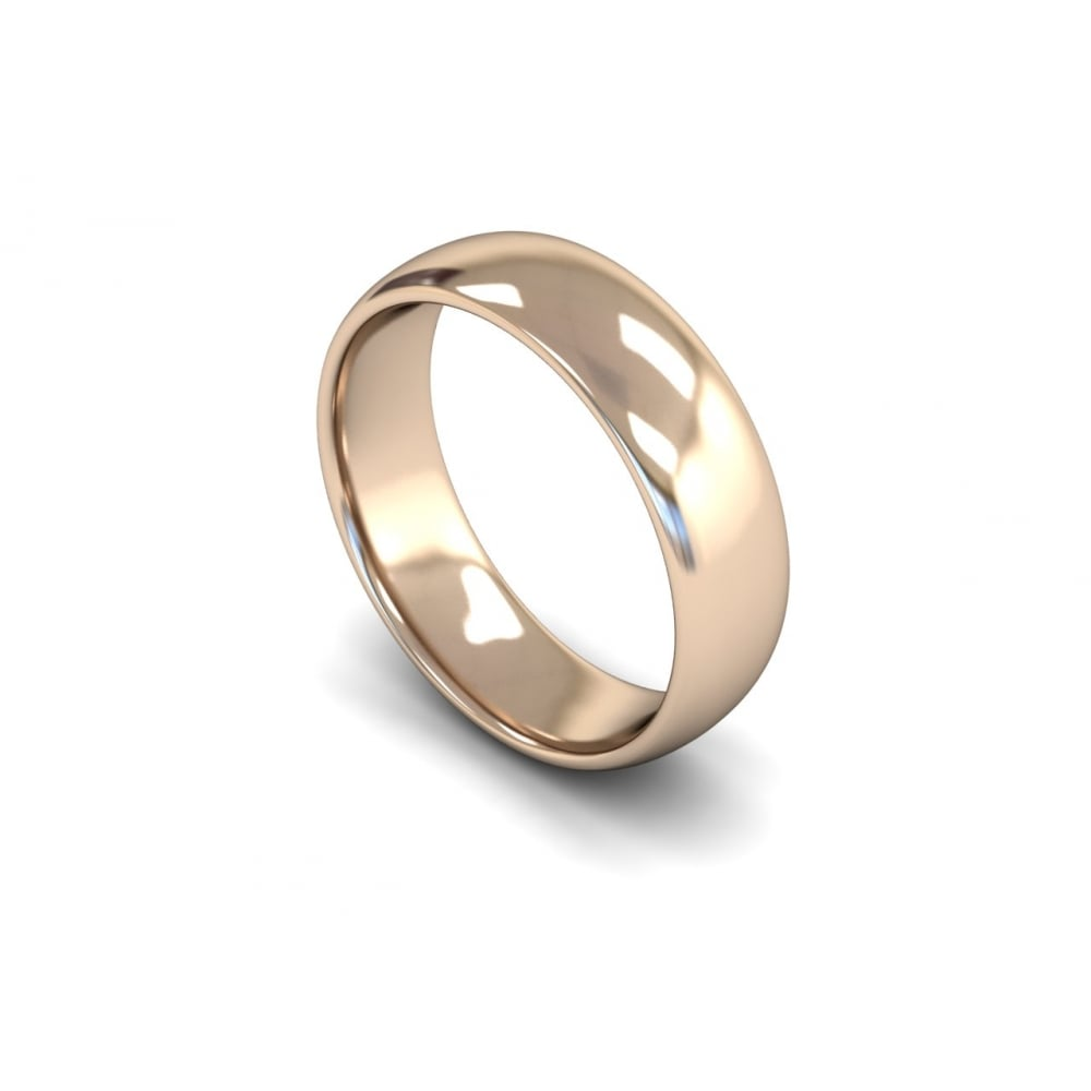 6mm medium weight flat edge wedding ring clearwater