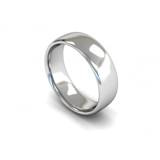 Clearwater Diamonds 7mm Medium Weight Slight Court Wedding Ring