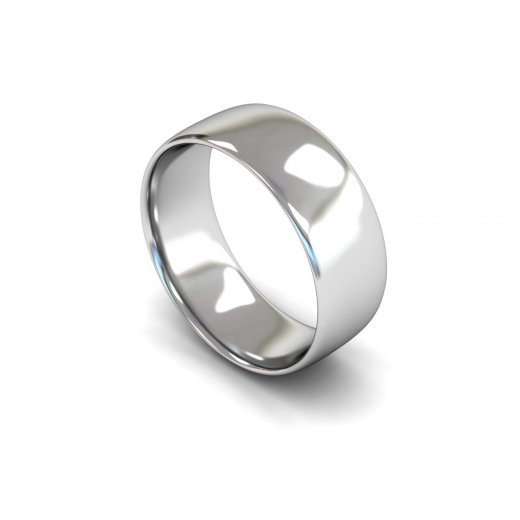 8mm light weight slight court wedding ring clearwater