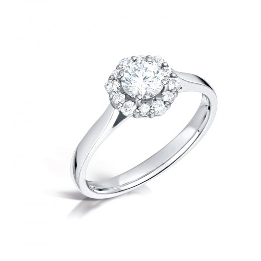 Clearwater Diamonds Certificated Diamond Cluster Ring