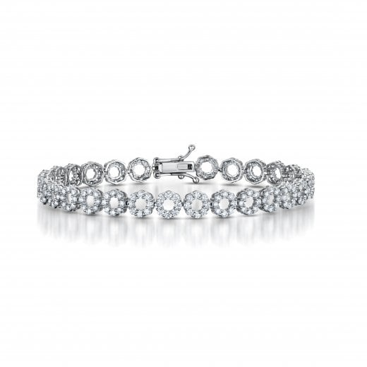 Clearwater Diamonds Circles Diamond Tennis Bracelet