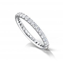 Claw Set Round Diamond Eternity Ring