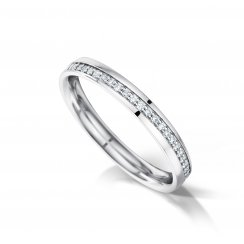 Diagonally Set Diamond Wedding Ring