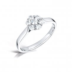 Diamond Daisy Style Cluster Ring