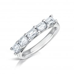 Five Stone Emerald Cut Diamond Ring