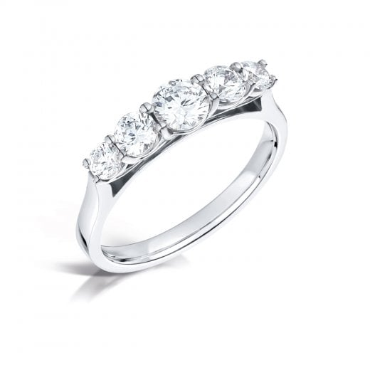 Clearwater Diamonds Graduating Round Diamond Five Stone Ring