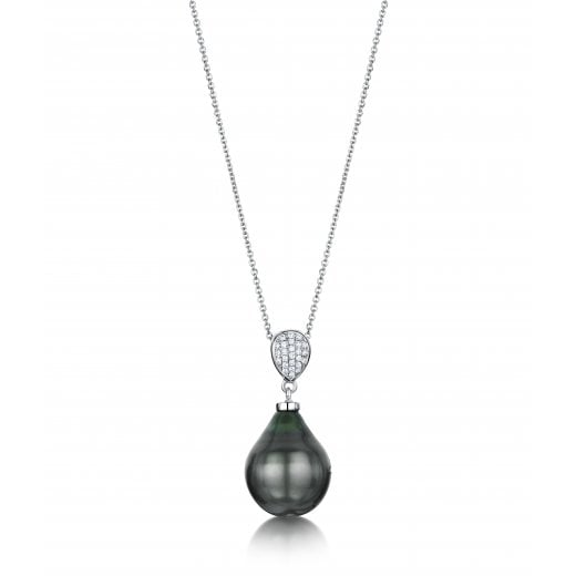 Clearwater Diamonds Grey South Sea Pearl & Diamond Pendant