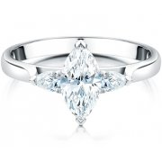 Marquise & Pear Shaped Diamond Three Stone Ring