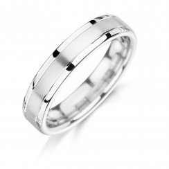 Matte & polished wedding ring