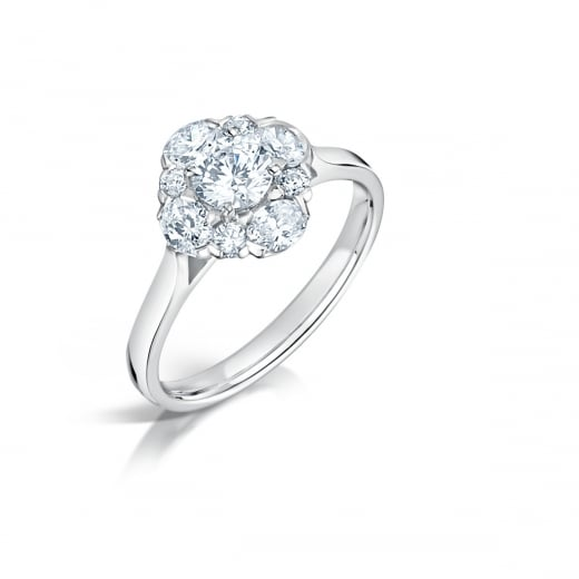 Clearwater Diamonds Oval & Round Diamond Cluster Ring