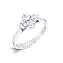 Platinum & Diamond Four Stone Ring