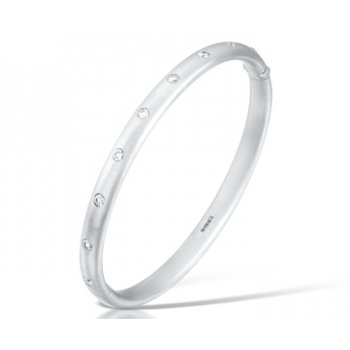 Clearwater Diamonds Platinum & Round Brilliant Cut Diamond Bangle